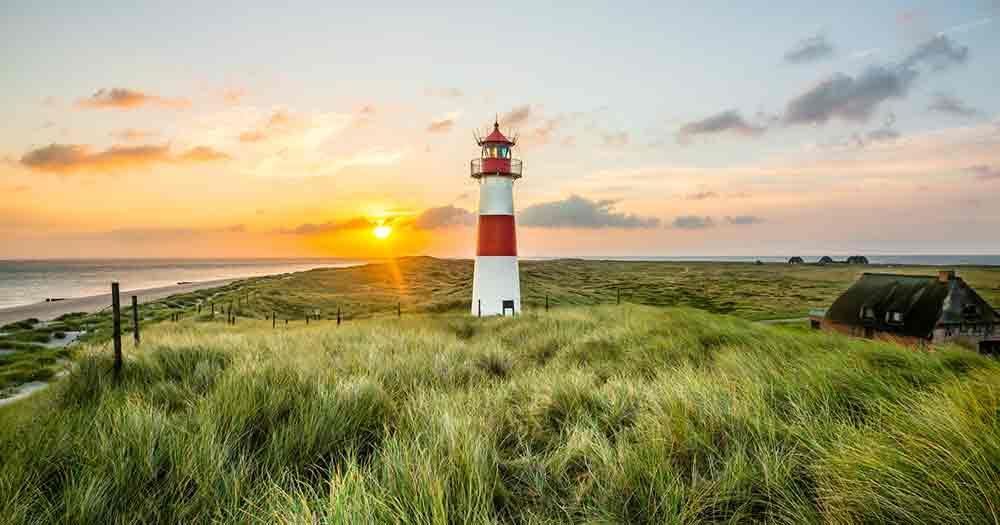 North Sea - Lighthouse at sunrise