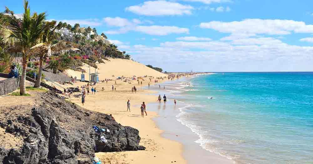 Fuerteventura - The wonderful beach with blue sea