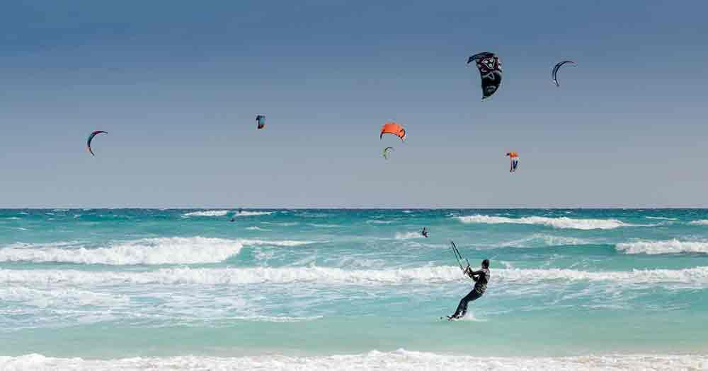 Fuerteventura - The Mecca for kitesurfers and other water sports.