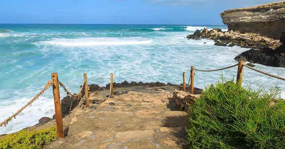 Fuerteventura - The stone steps to the beach