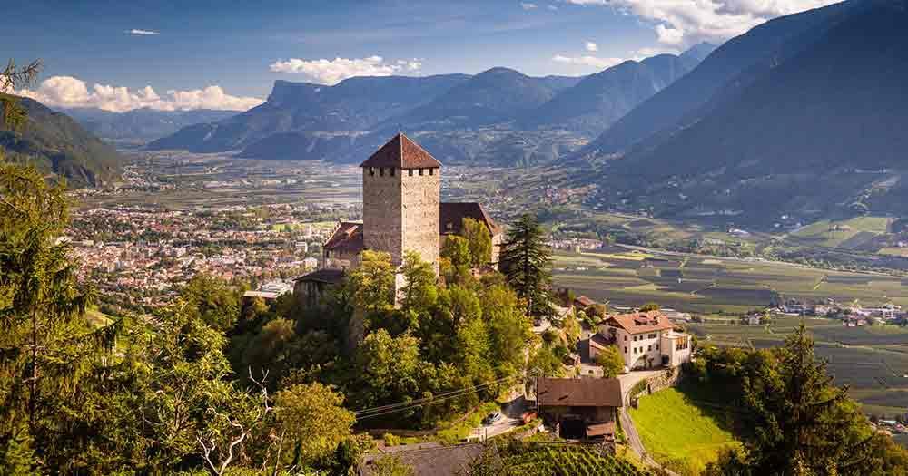 South Tyrol - View of Castle Tyrol in Bozen