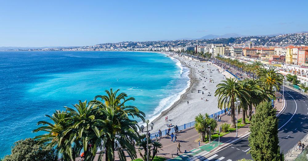 Nice - The blue sea before Nice