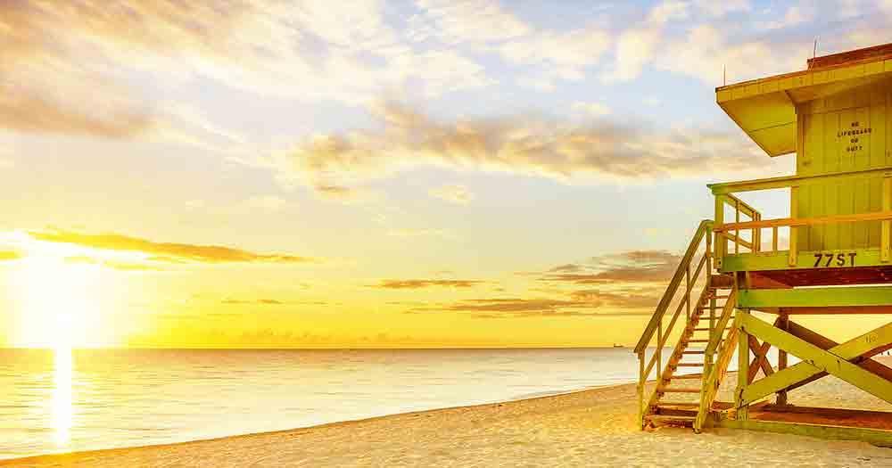 Miami - Sunset at the beach