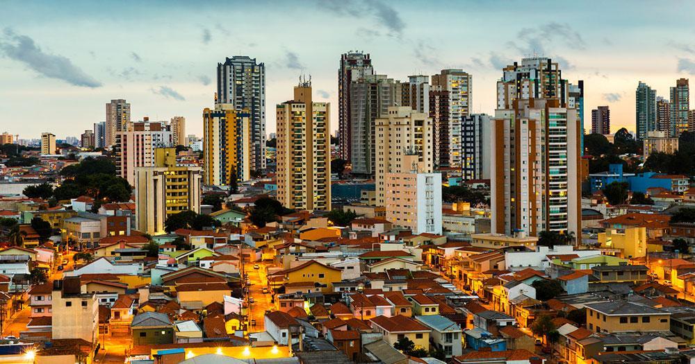 Sao Paulo - Sunset over Sao Paulo