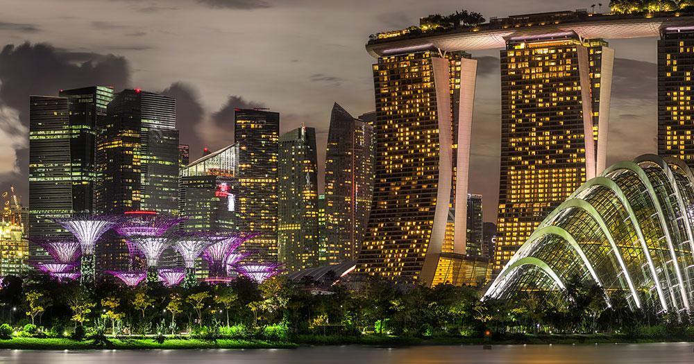 Singapur - Skylline mit Supertrees