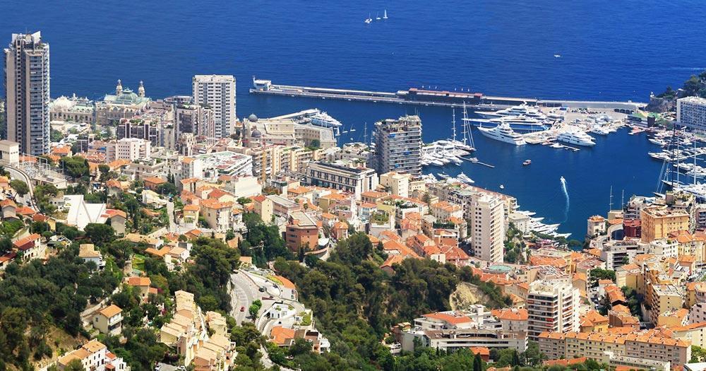 Côte d'Azur - View of Monte Carlo