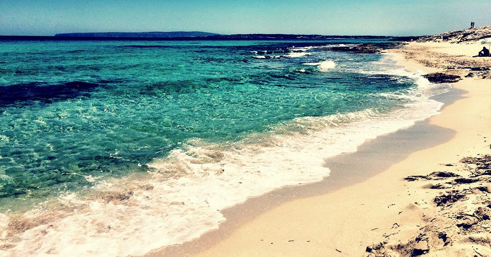 Formentera - White sandy beach
