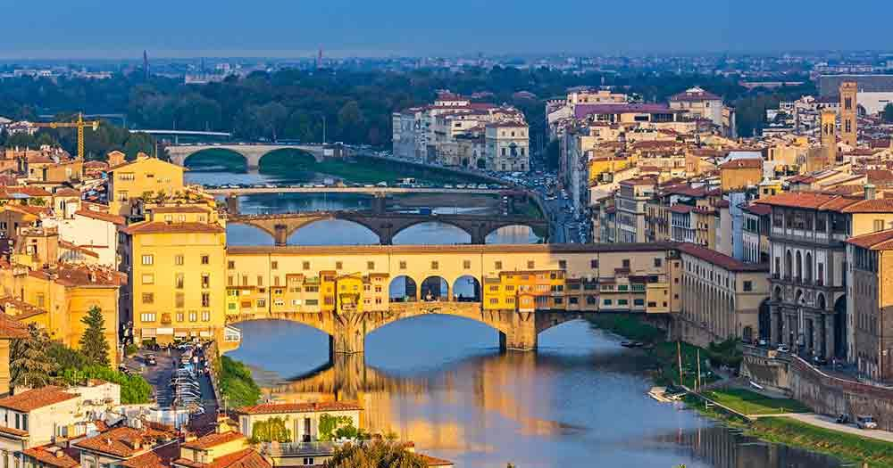 Tuscany - Florence in the evening light