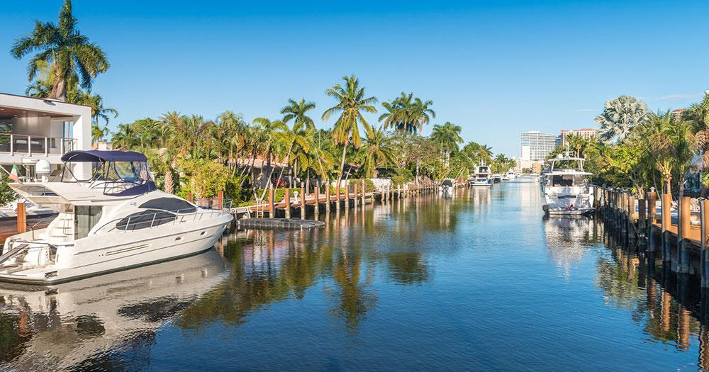 Florida - Yacht roads from Fort Lauderdale
