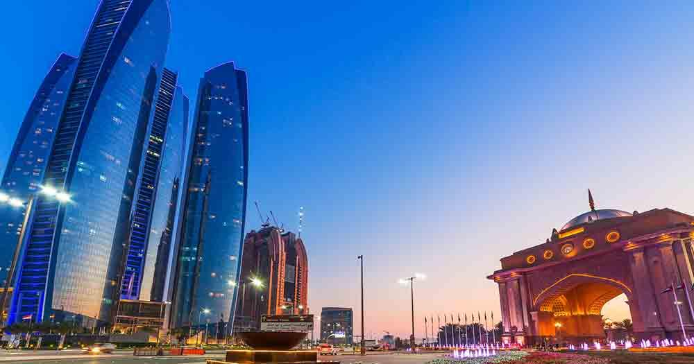 Abu Dhabi - View of the hotels