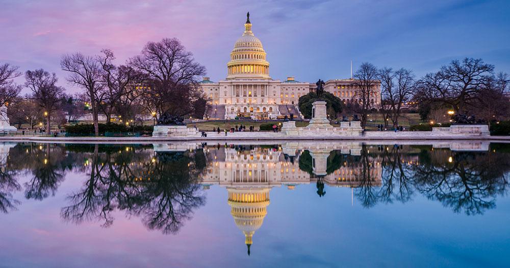 Washington D.C. - The Capitol in the setting sun