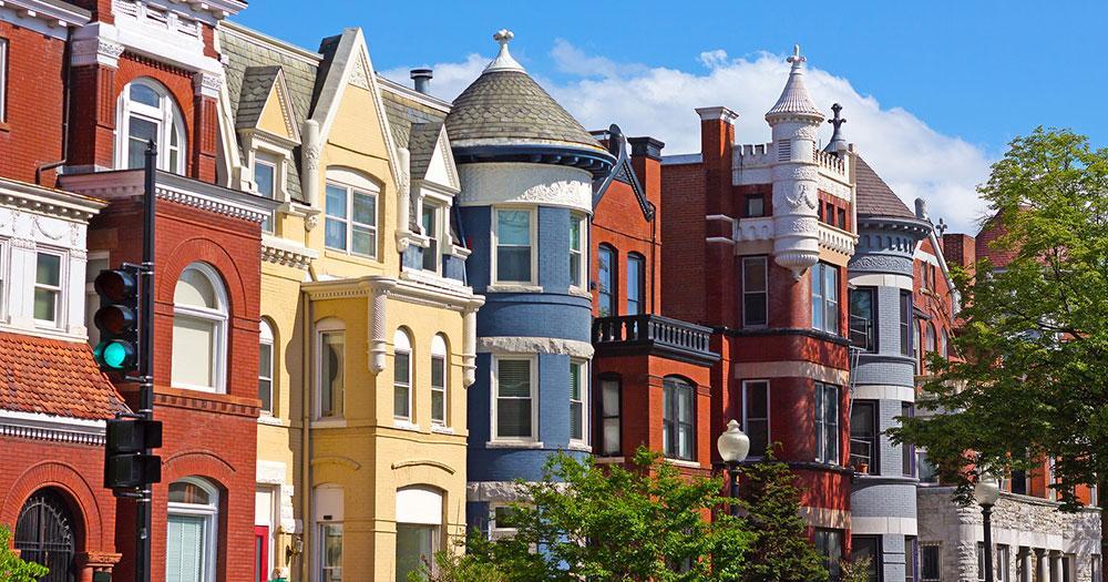 Washington D.C - View of townhouses