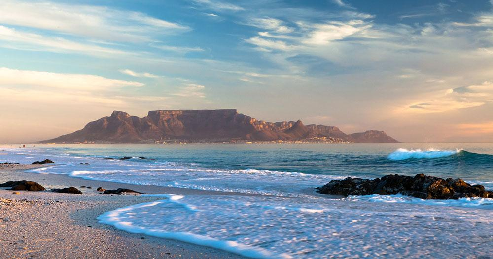 Cape Town - Table Mountain on the coast