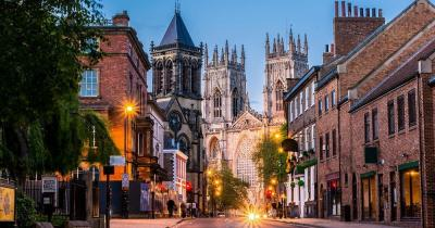 York - the evening streets of Yorkshire