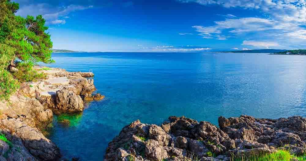 Krk - fantastic view of the sea