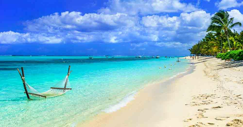 Mauritius - View of the beautiful beach