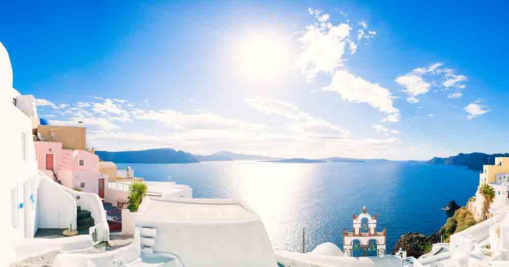 Mykonos - View of the beautiful sea