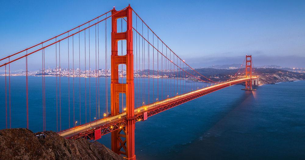 California - The Golden Gate Bridge of San Francisco