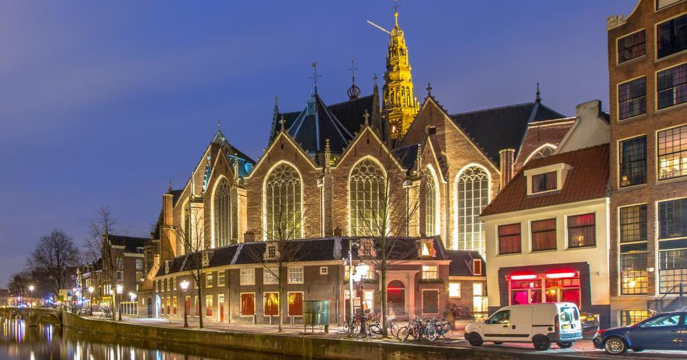 Amsterdam - View of the Oude Kerk