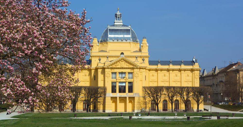 Zagreb - View of the art pavilion