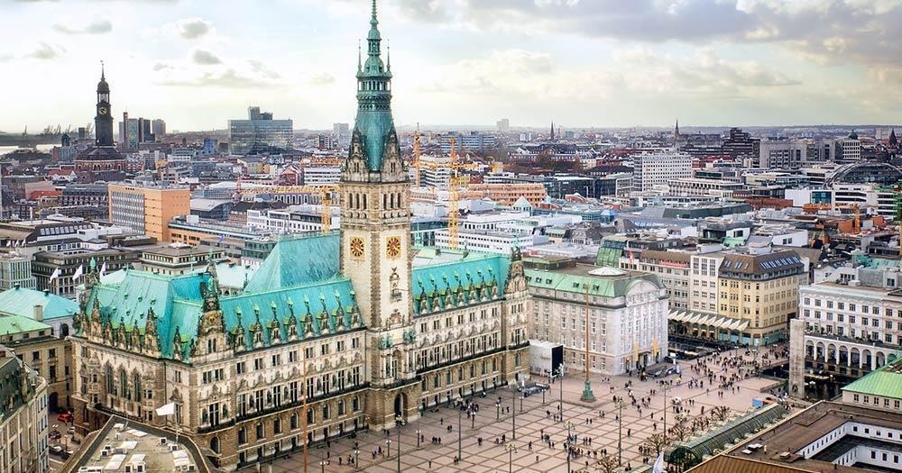 Hamburg - The city hall of Hamburg