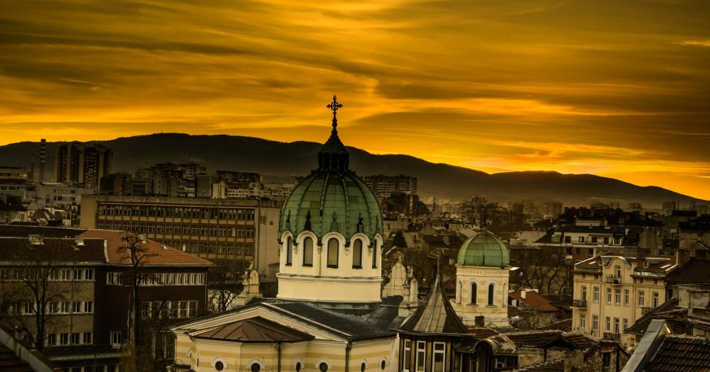 Sofia - View of the temple of St. Cyril and Methodius
