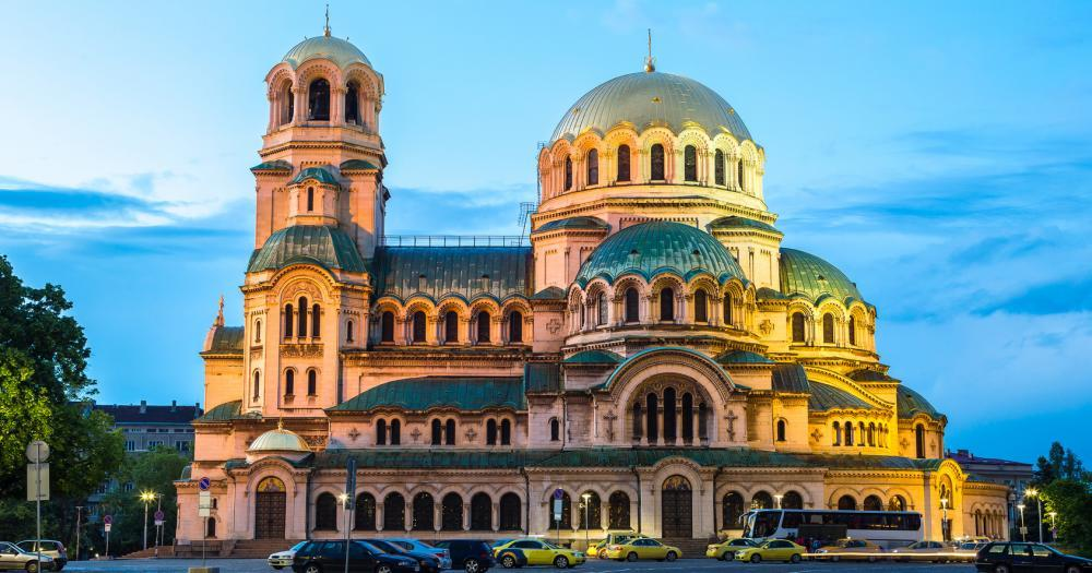 Sofia - View of the Alexander Nevsky Cathedral