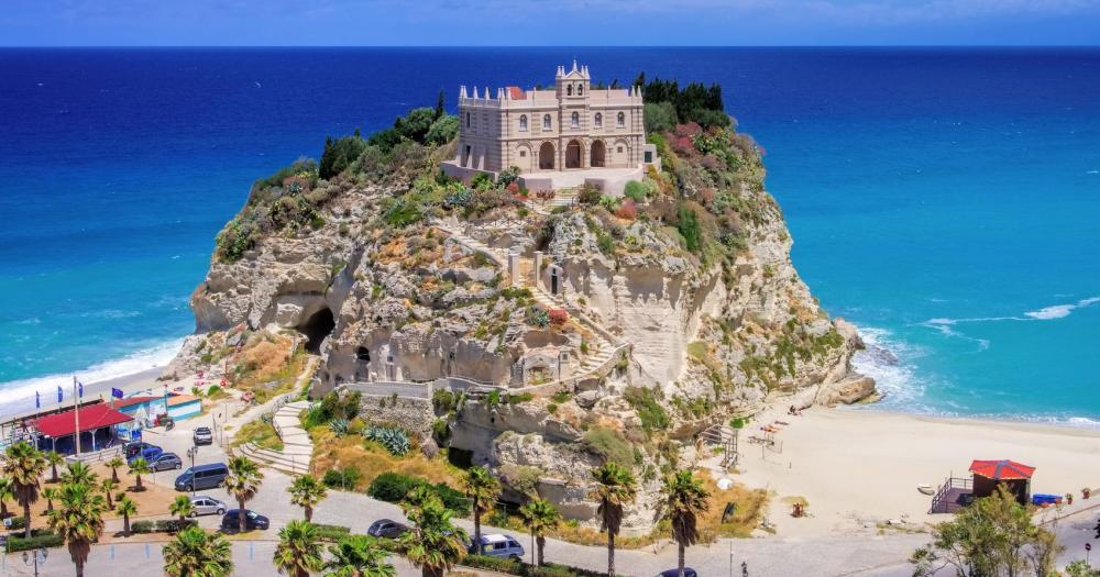Calabria - View of the church of Tropea