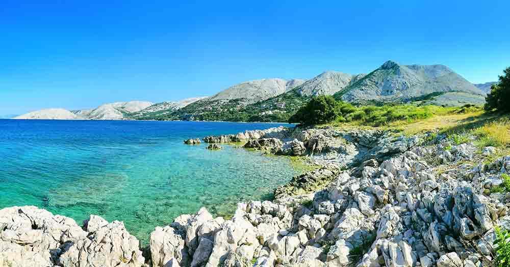 Adriatic Sea - Stony beach on the Adriatic