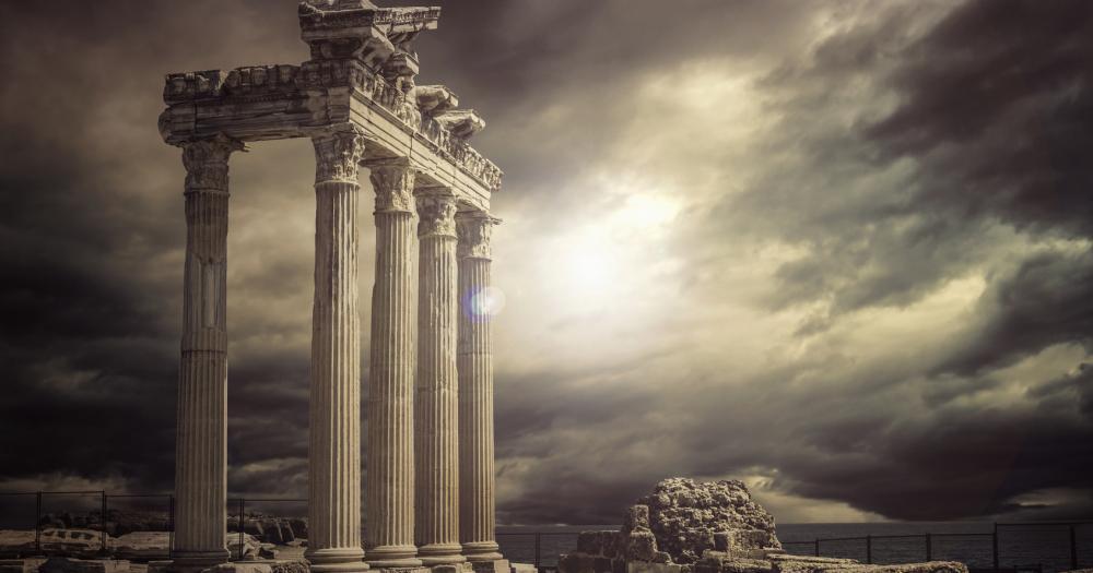 Antalya - View of the temple of Apollo