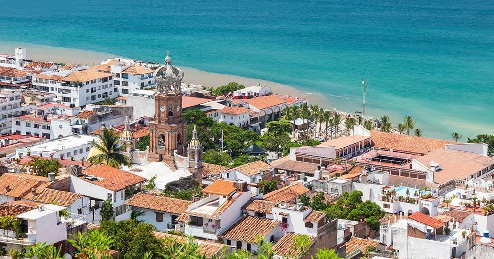 Puerto Vallarta - the panoramic view of city and coast
