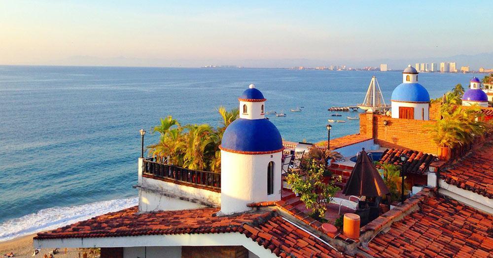Puerto Vallarta - the blue domes of the skyline