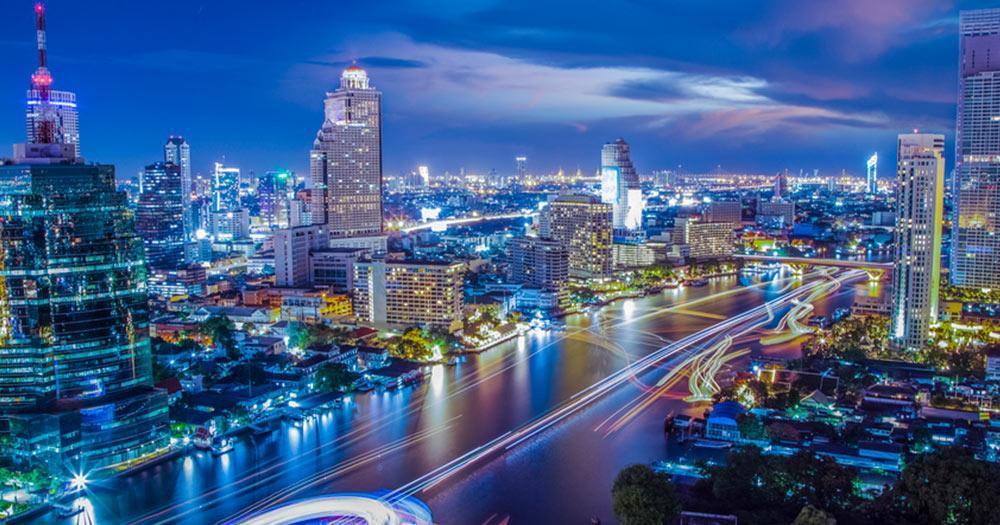 Bangkok - skyline of the city