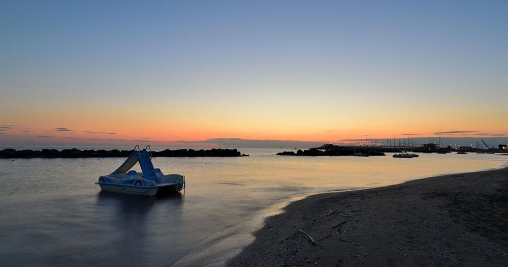 Rimini - beach in the evening light