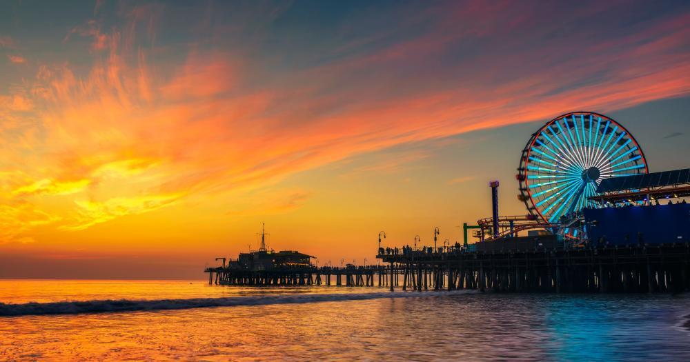 Santa Monica - Pier in the evening