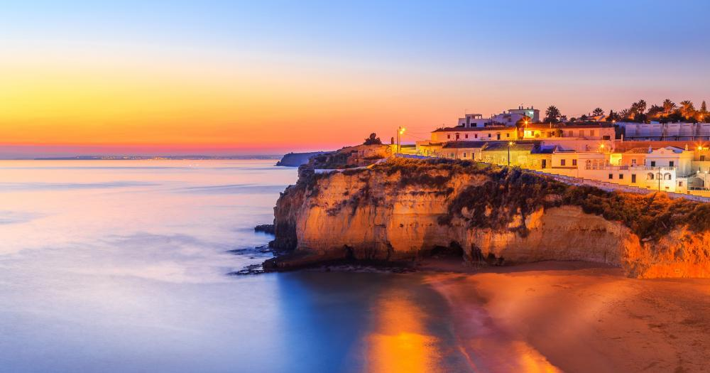 Algarve - View of Carvoeiro at sunset