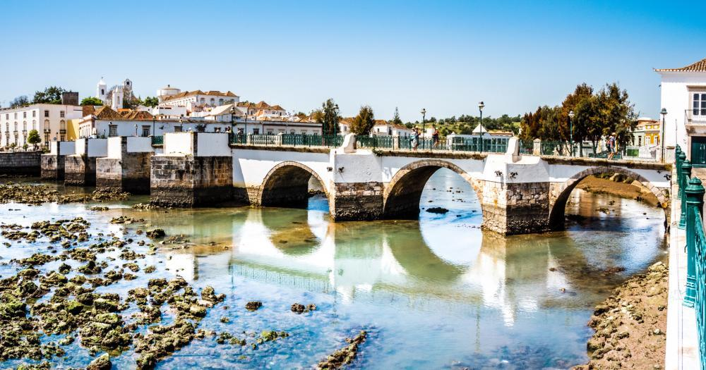 Algarve - The historic bridge in Tavira