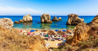 Algarve - View of the beach Praia dos Arrifes
