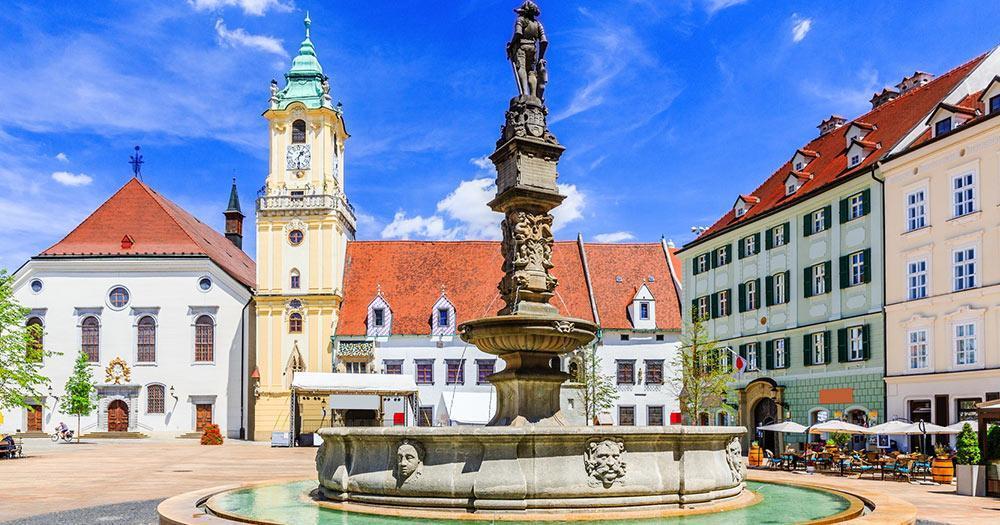 Bratislava - The Maximilian Fountain