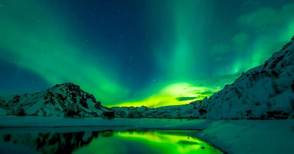 Iceland - Northern Lights at night