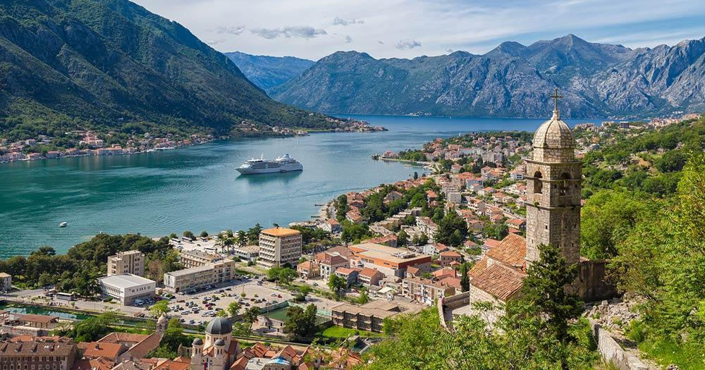 Kotor - The bay with historical centre
