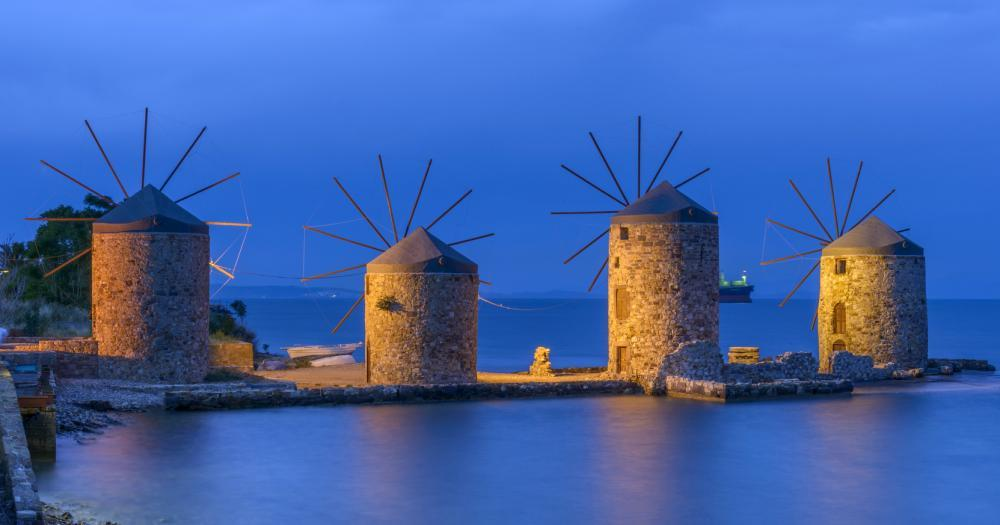 Cesme - View of the windmills