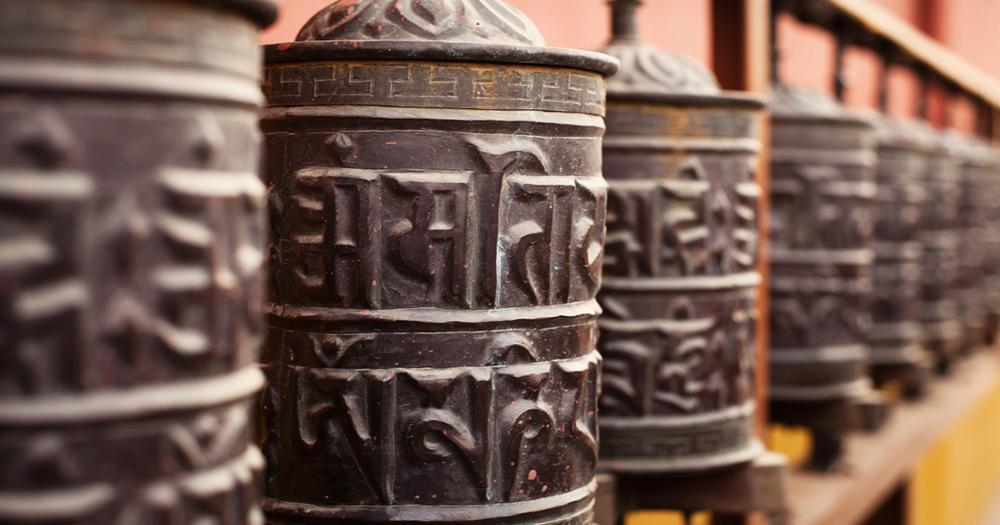 Kathmandu - Prayer wheels