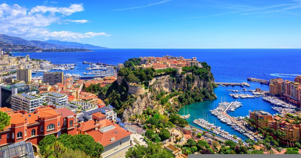 Monte-Carlo - View of the port of Monte-Carlo