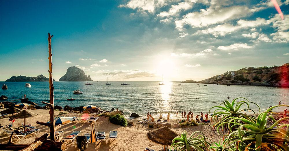 Ibiza - View from the beautiful beach