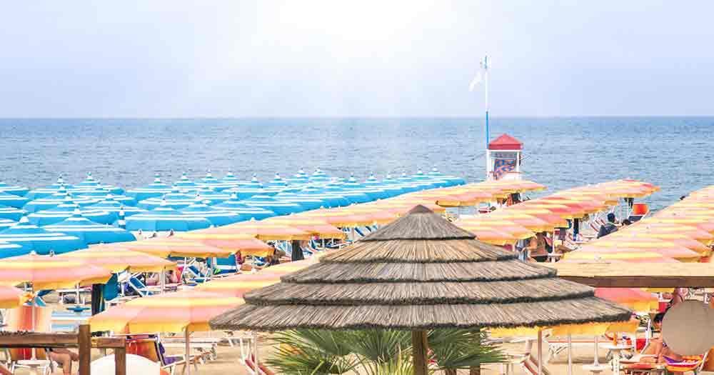 Jesolo - beach and sea