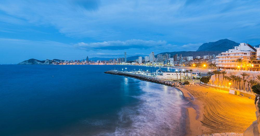 Costa Blanca - Evening panorama of Alicante