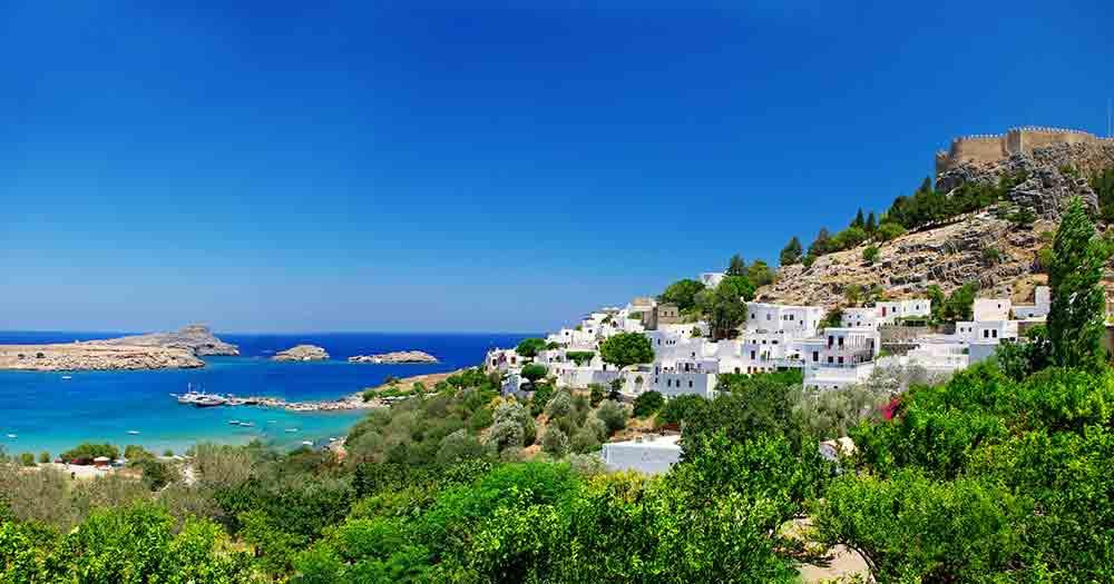 Rhodes - Picture of a picturesque village on the beach