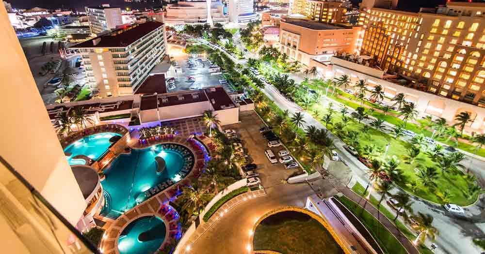 Cancun - View of the Promenda of Cancun