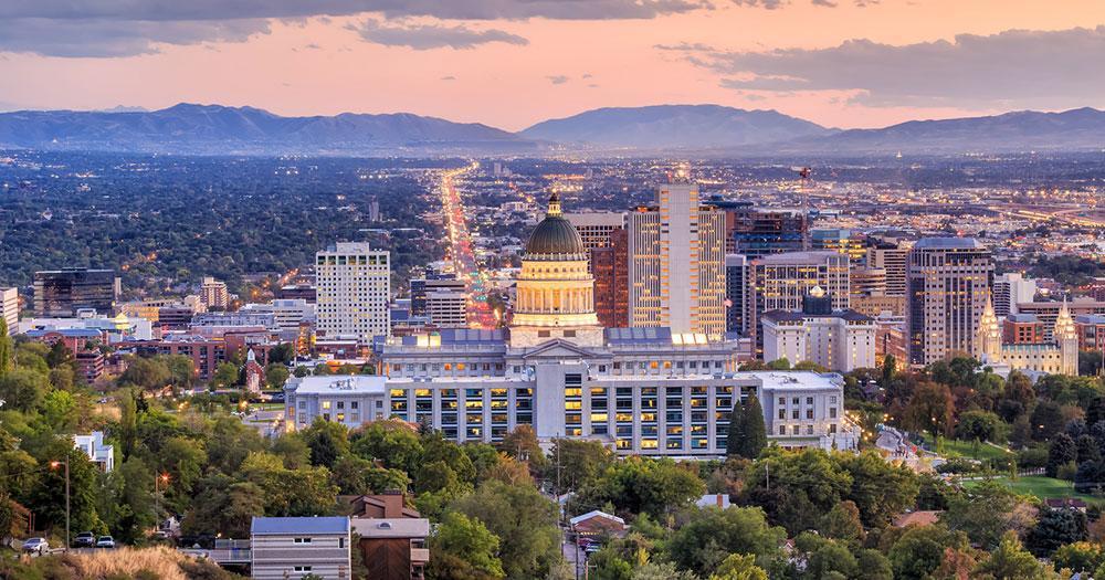 Salt Lake City - At sunset